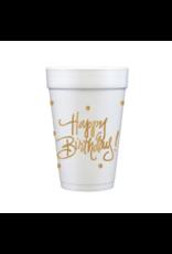 Foam Cup Happy Birthday Set/12