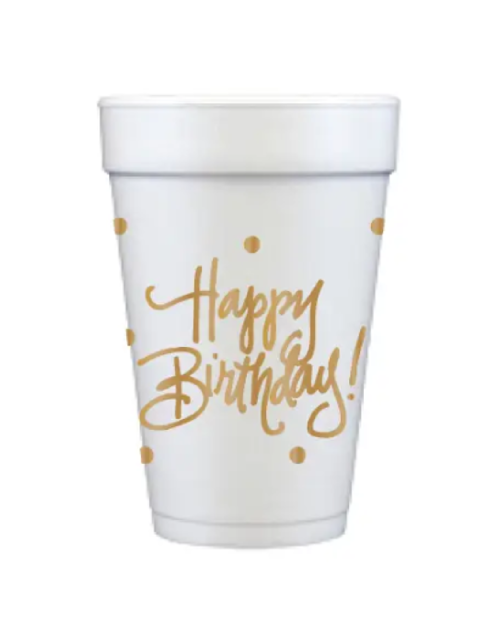 Foam Cup Happy Birthday Set/12