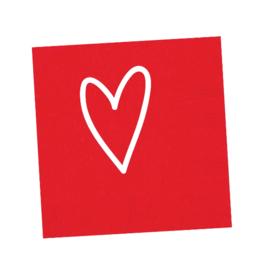Napkins Heart