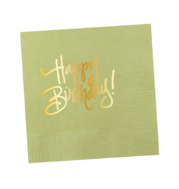 Napkins Happy Birthday