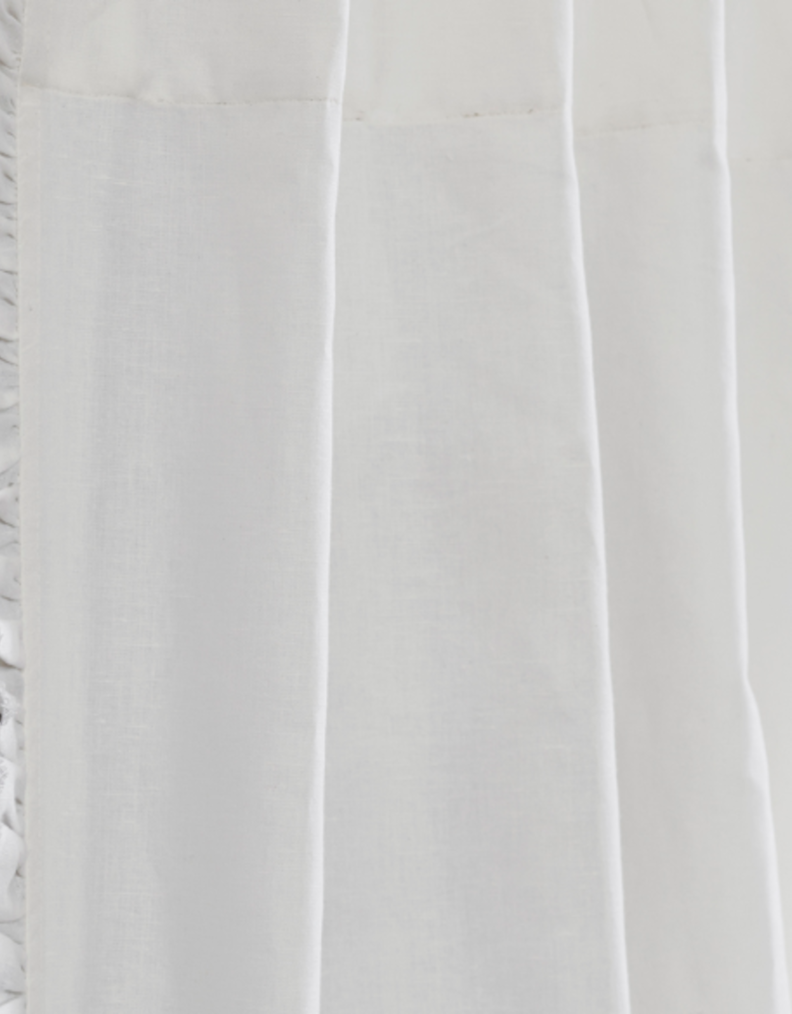 """White Panel with Frayed Edges 51x96"""""""