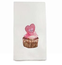Valentine Cupcake Dishtowel