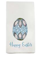 Blue Egg Happy Easter Tea Towel