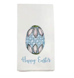 Blue Egg Happy Easter Tea Towel