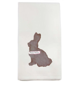 Chocolate Easter Bunny Tea Towel