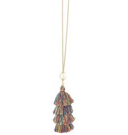 Multi Tassel Necklace N36