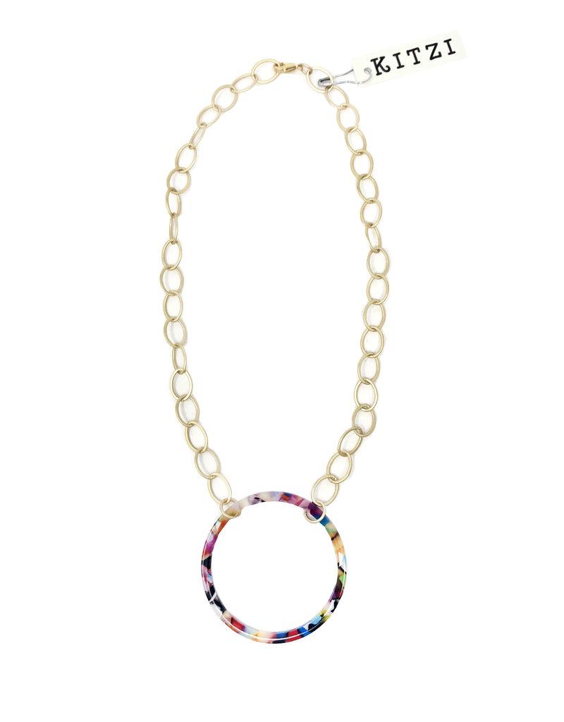 Multi Acrylic Short Necklace N24