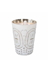 Sweet Grace Patterned White Tin Candle #032