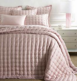 Silken Solid Slipper Pink Puff Bedspread Full/QN