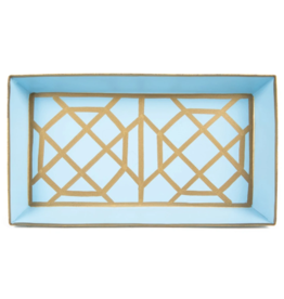Don't Fret Guest Towel Tray Light Blue