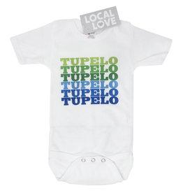 Tupelo Green/Blue Baby Onesie