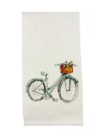 Blue Bike w/ Flowers Dishtowel