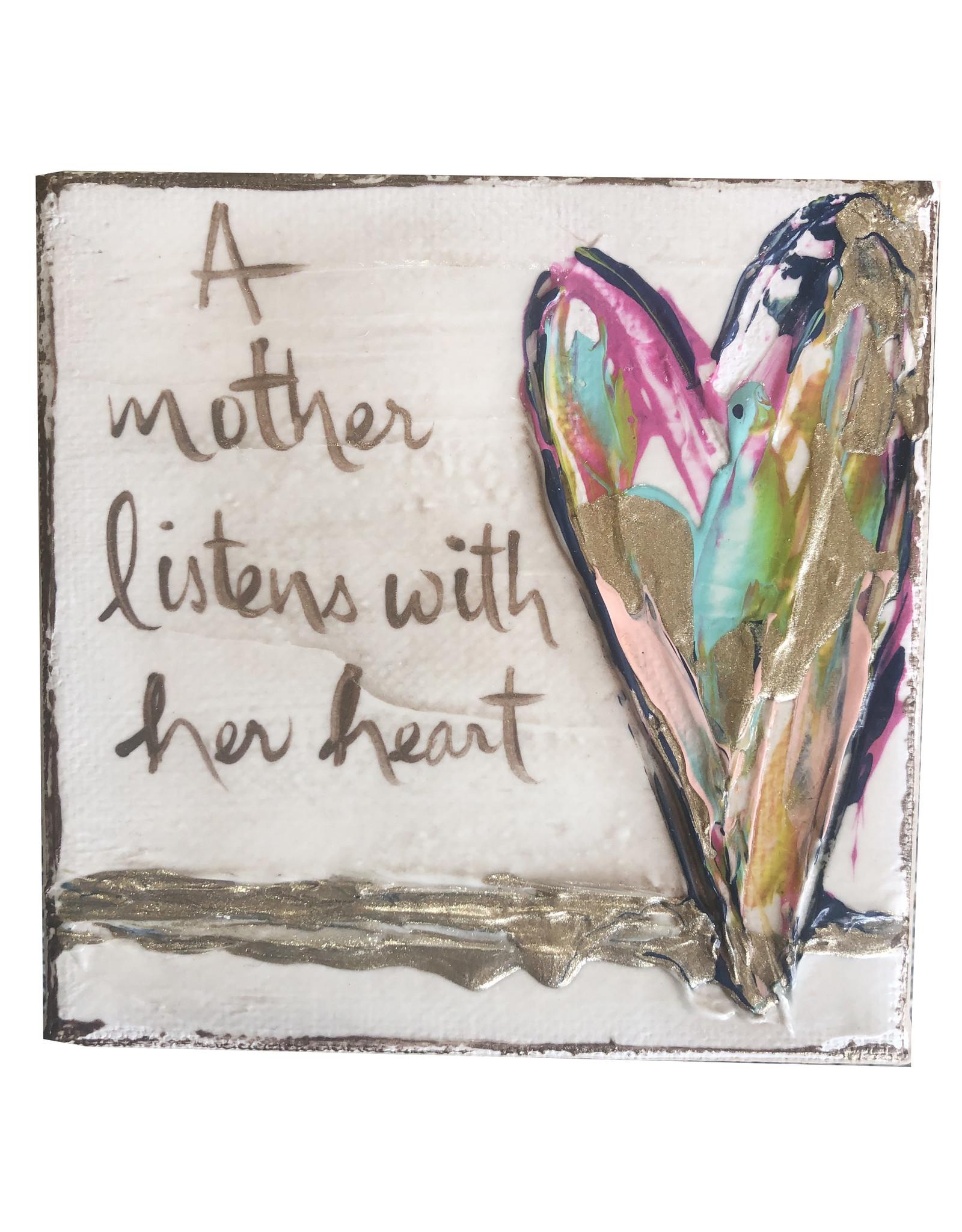 4x4 Art Mother Listens Heart