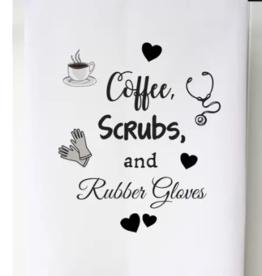 Coffee Scrubs Flour Sack Towel