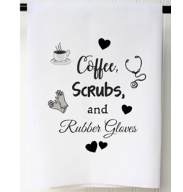 Coffee Scrubs Flour Sack Towel