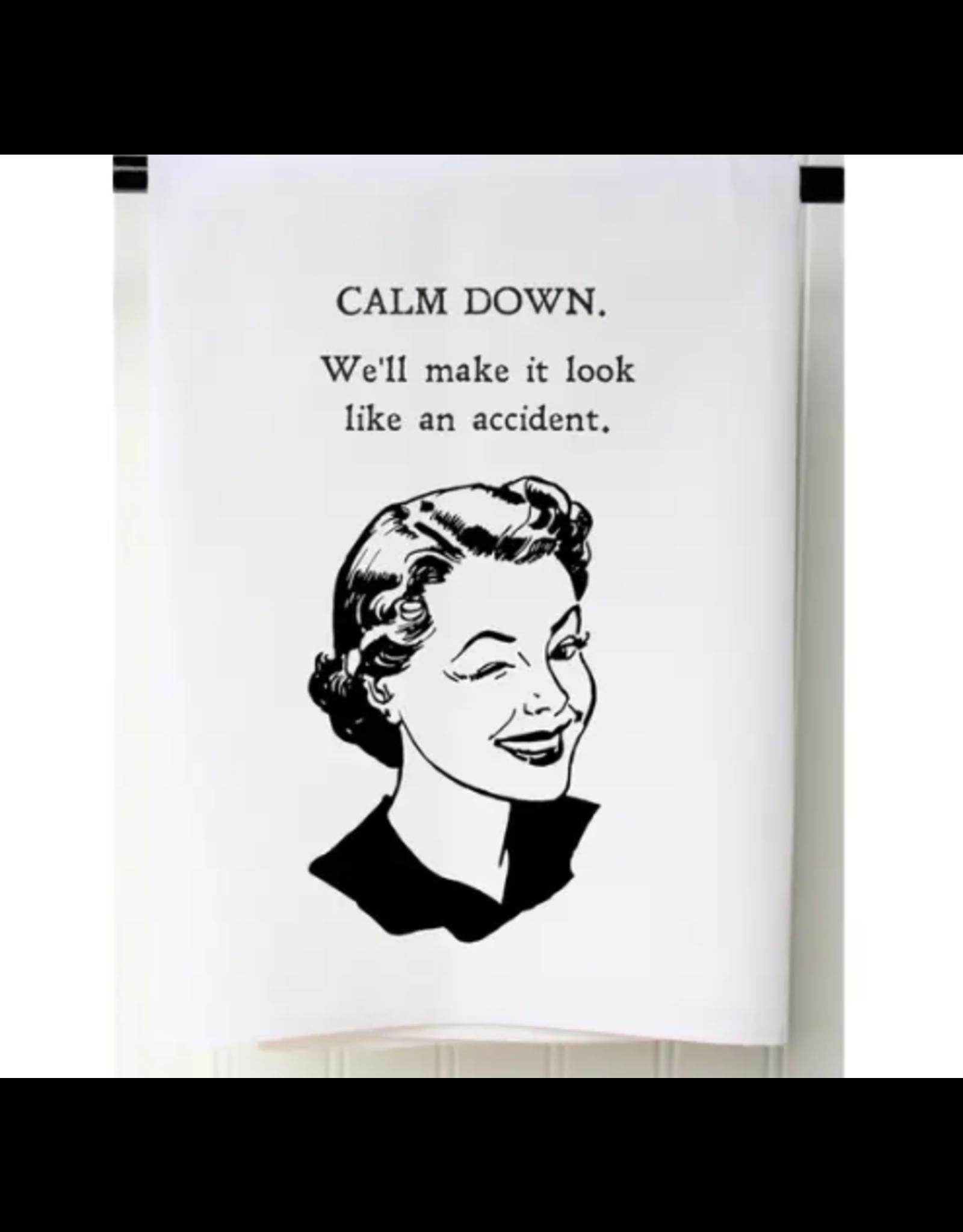 Calm Down Flour Sack Towel