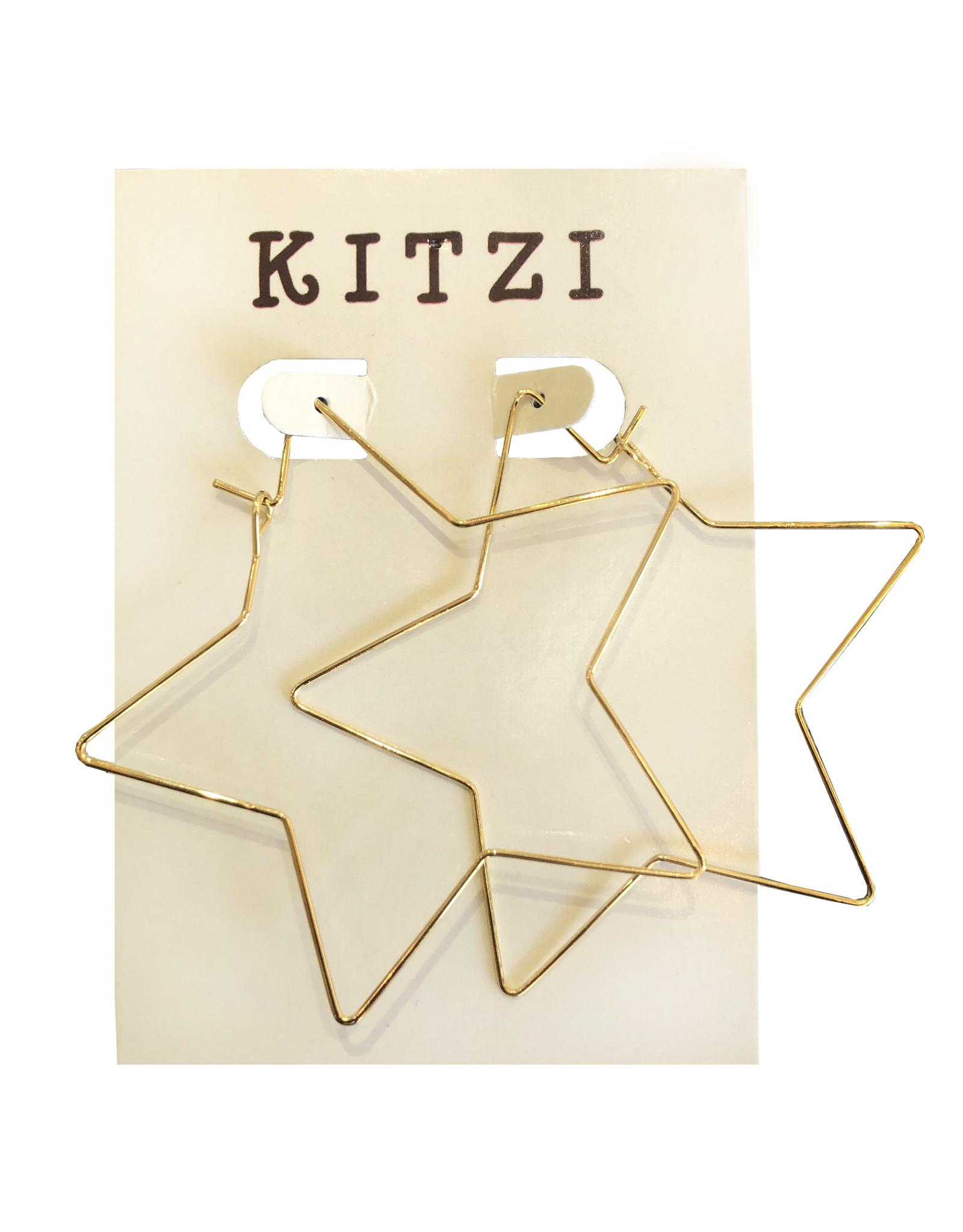 Gold Star Metal Earrings