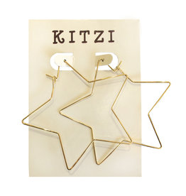 Gold Star Metal Earrings
