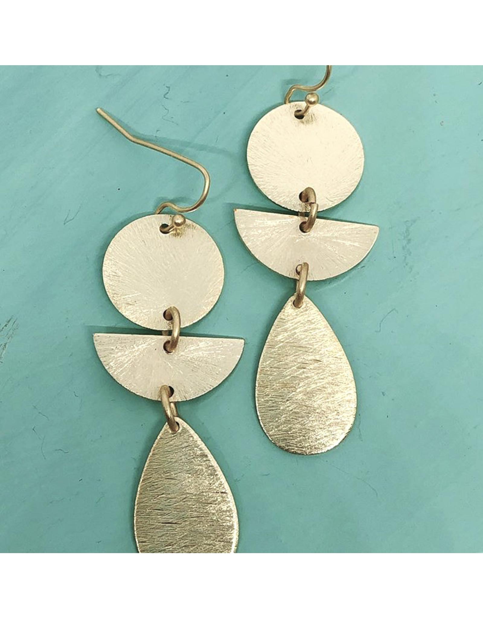 3 Tier Dangle Earrings