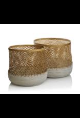 Andes Bamboo Raffia Baskets Set/2