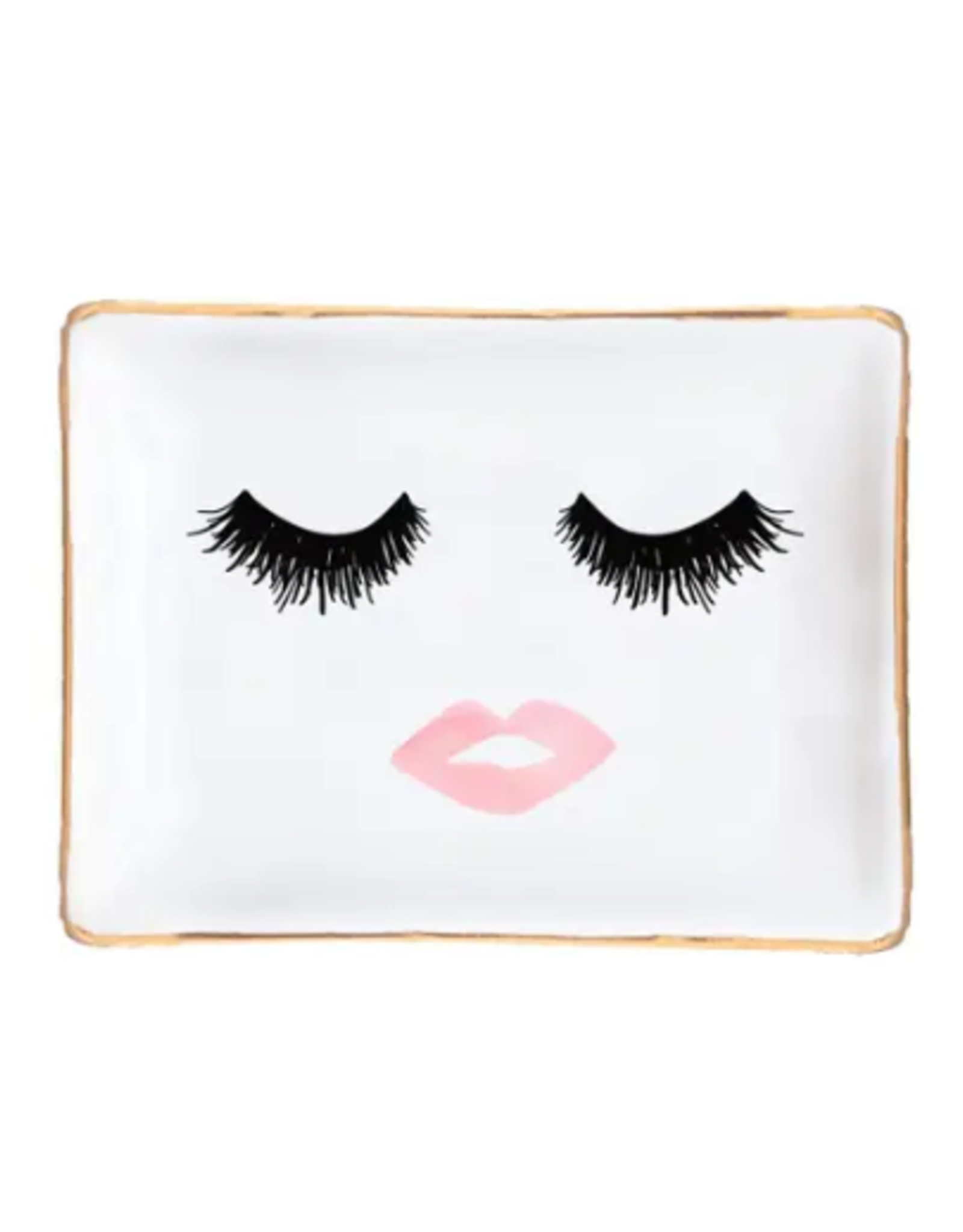 Lashes & Lips Jewelry Dish