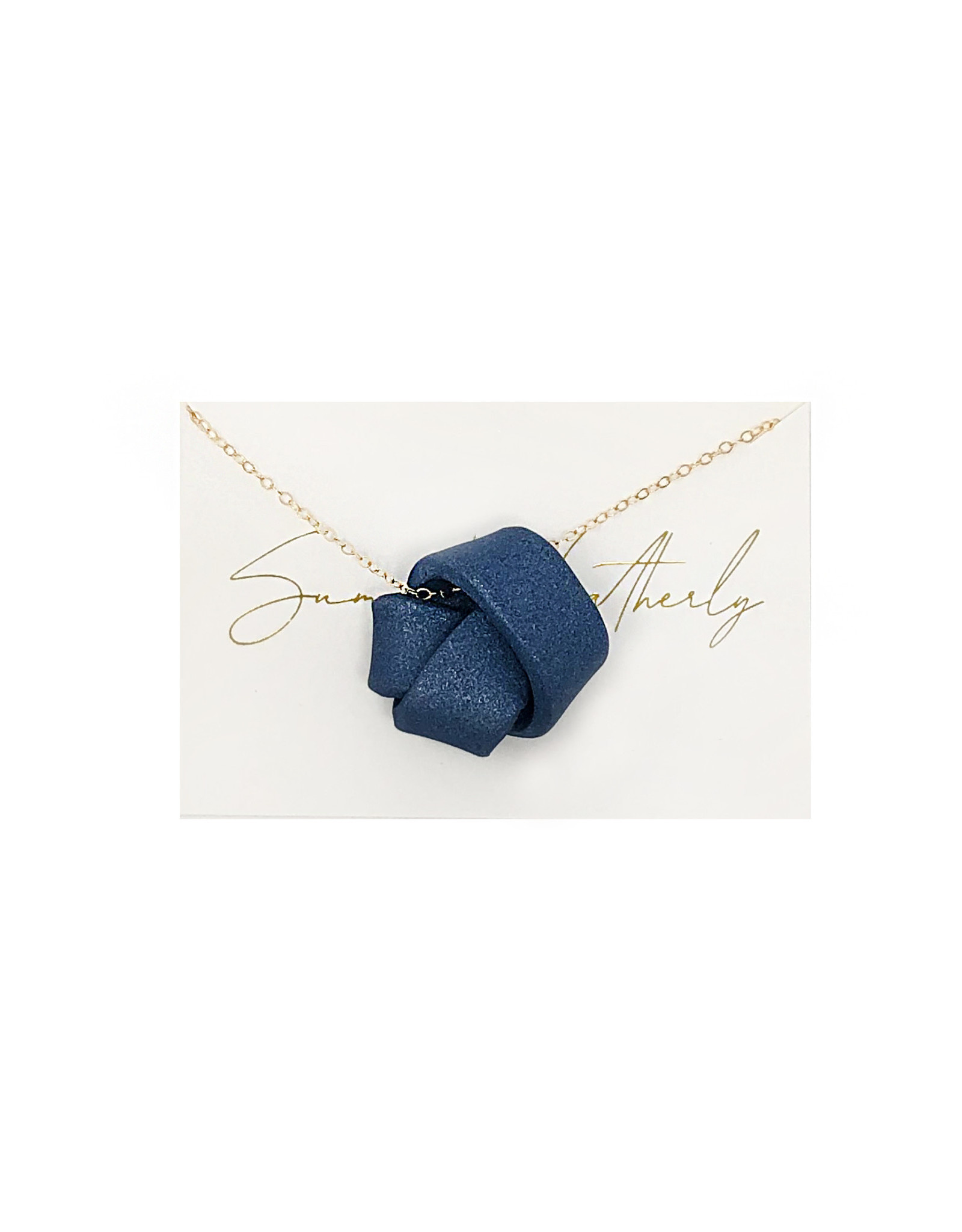"""Large Love Knot Necklace on 20"""" Gold Filled Chain"""