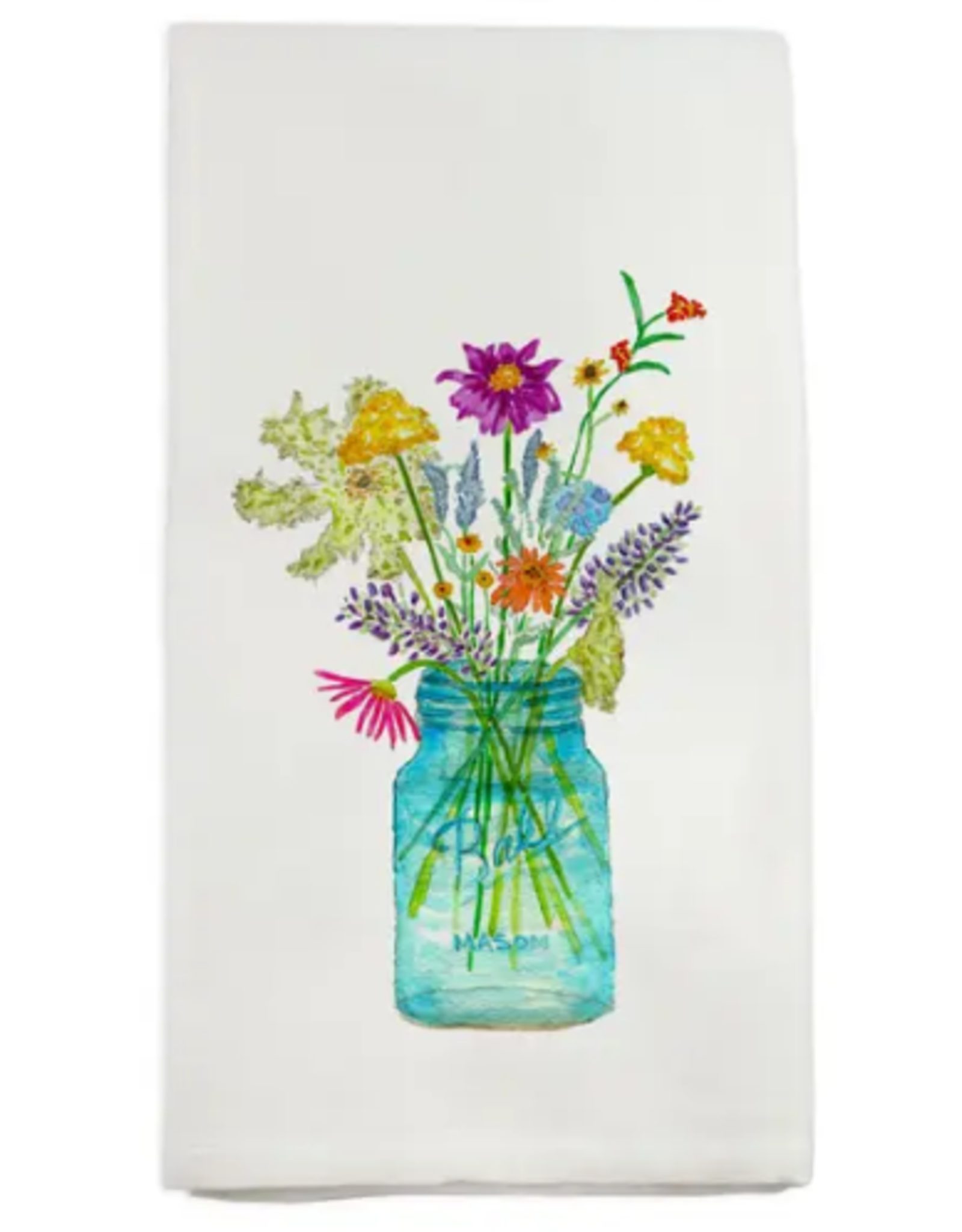 Wildflowers Mason Jar Tea Towel