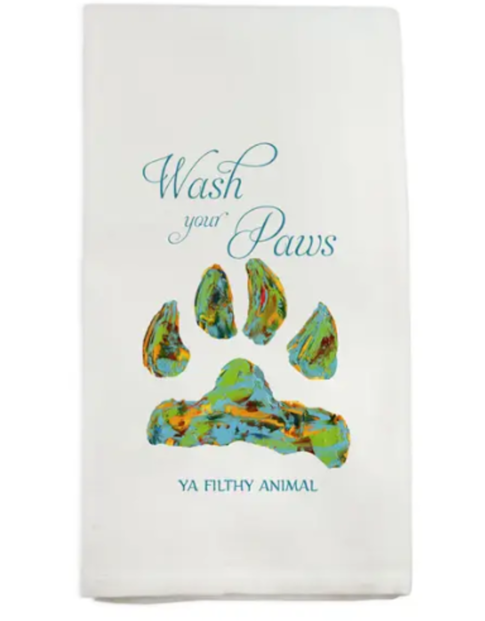 Wash Your Paws Dishtowel