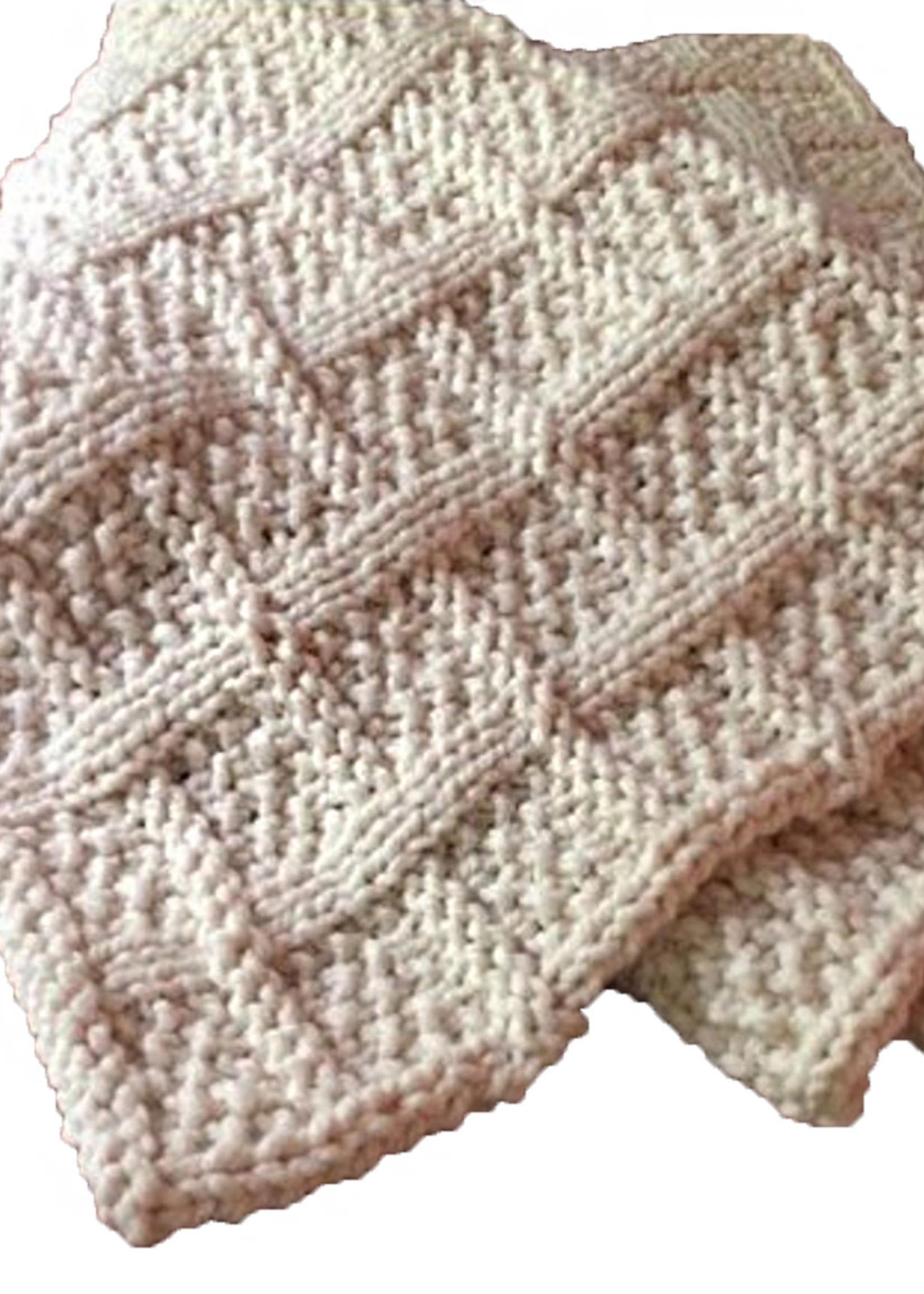 Lattice Knit blanket