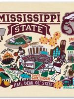 Mississippi State Art Print 8x10