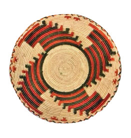 "Natural Rust and Black hand woven 12"" Pakistani Basket"