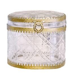 Tall Oval Filagree glass box