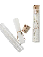 Glass Vial with Blank Parchment