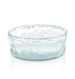 Large Clear Round Recycled Bowl