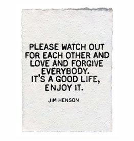 Jim Henson Paper Print 12x16