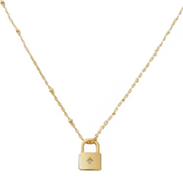 Luna Star Lock Necklace