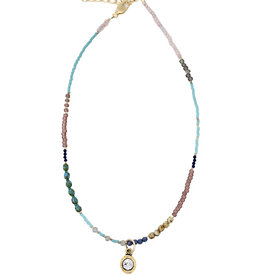 Kelly Beaded Choker with Crystal
