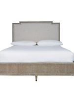 Harmony Queen Bed with Linen Upholstered Headboard