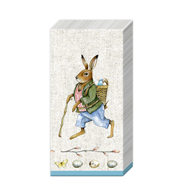 Edward Rabbit Linen Pocket Tissue