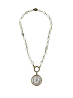 MC Everly Bee Necklace Mint Cream
