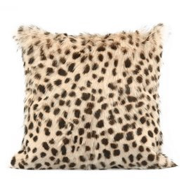Spotted Goat Fur Pillow