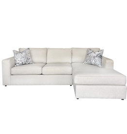 Milford La Loveseat & Ra Chaise in grade 2 fabric