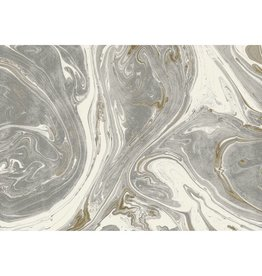 Gray and Gold Marble Paper placemats