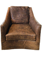 Walter Swivel Leather Chair