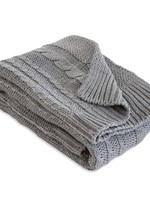 Cable Knit Stroller Blanket - Grey