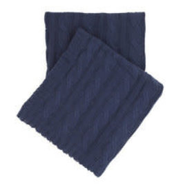 Comfy Cable Knit Throw Indigo 50x70