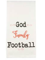 God Family Football Tea Towel