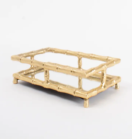Gold Bamboo Guest Towel Tray