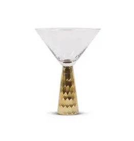 Gold Geo Martini Glass