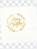 Merry Christmas Wreath Napkins